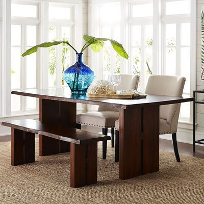 Live Edge Dining Table  Tuscan Brown  New House  Pinterest Prepossessing Pier One Dining Room Furniture Design Inspiration