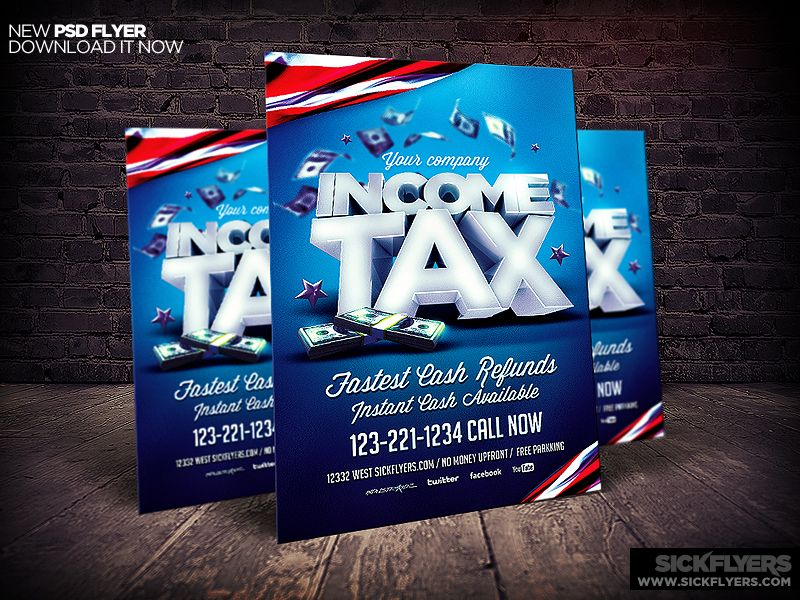 Income Tax Flyer Template PSD | Flyer template and Template