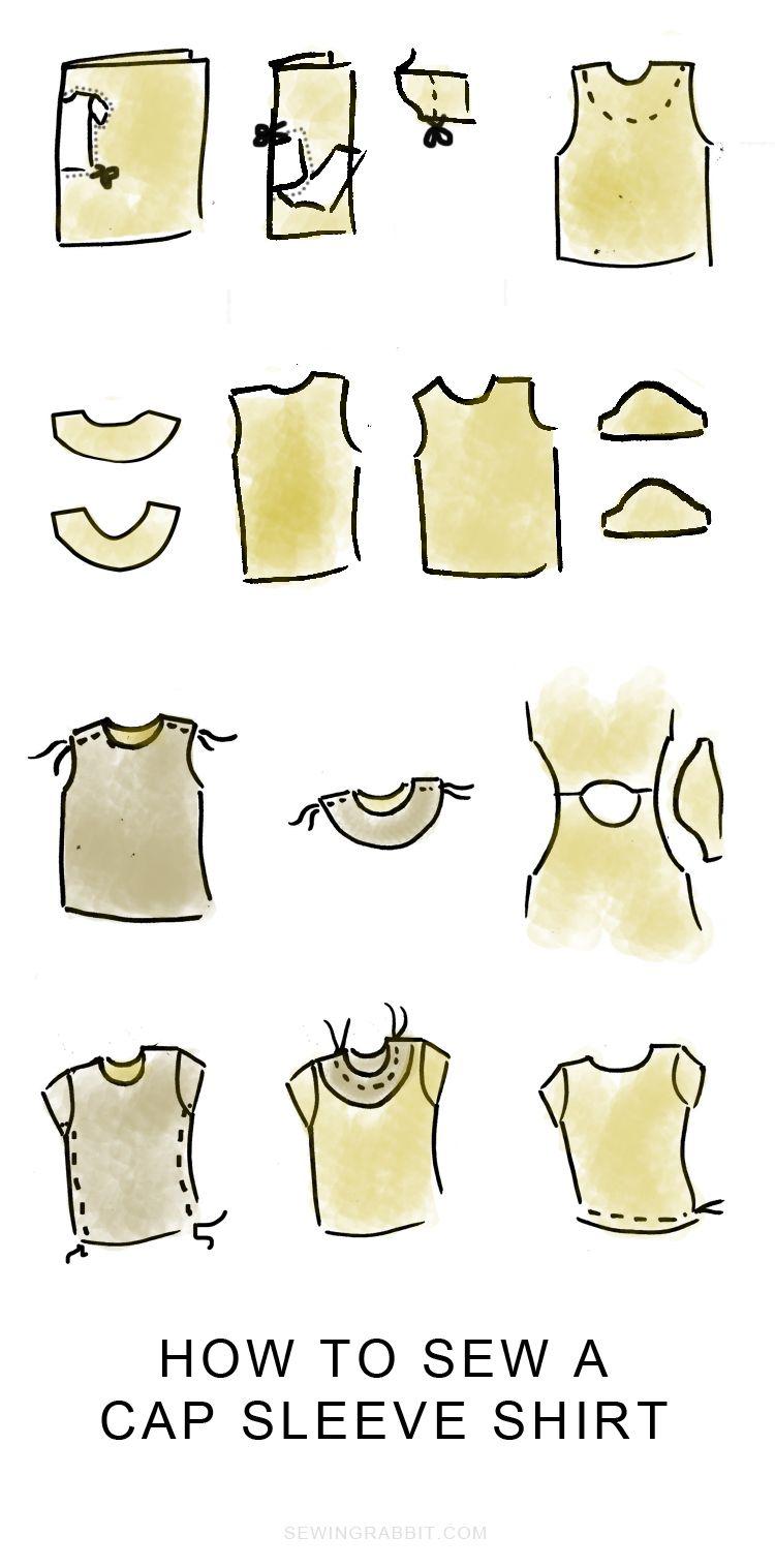 How to sew velvet, velvet cap sleeve shirt | Sewing | Pinterest ...