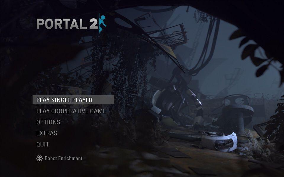 Portal 2 title screen | GUI in 2019 | Game ui design, Game