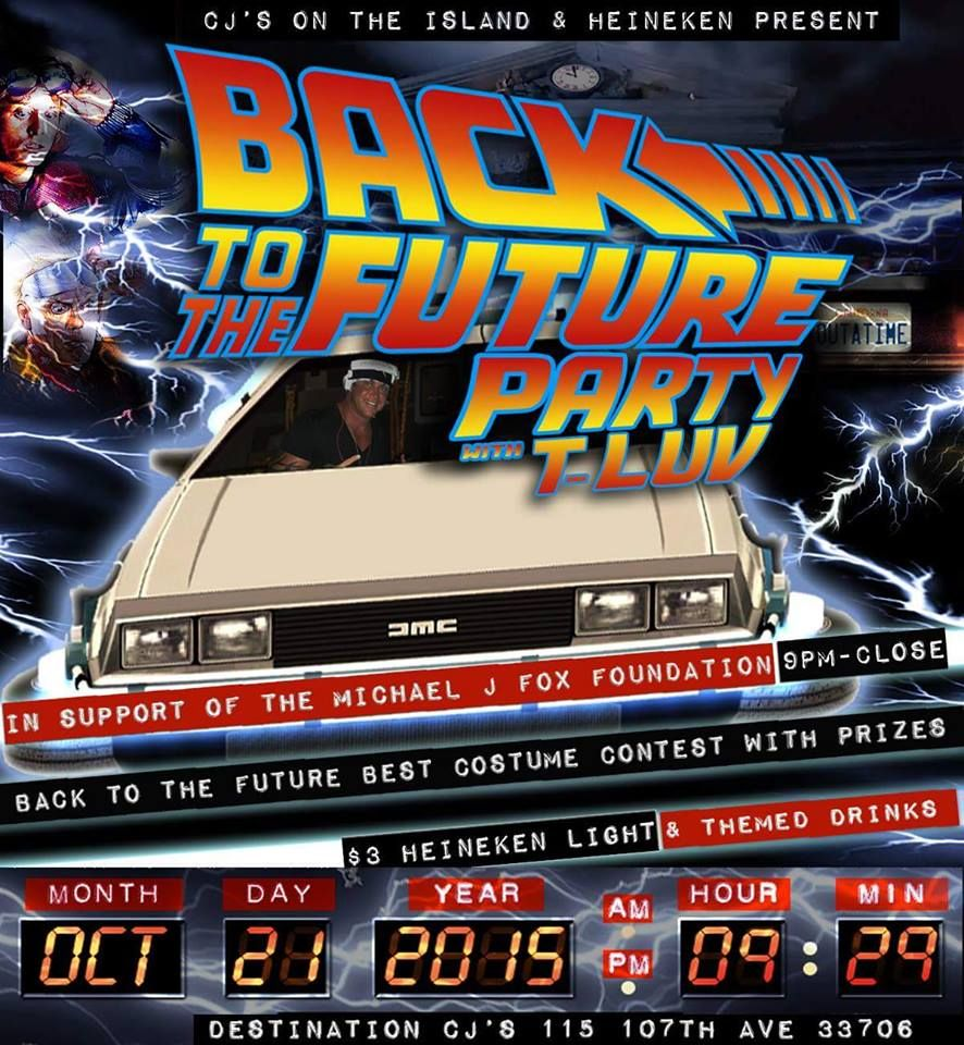Cjs Back to the Future Party Treasure Island FL http