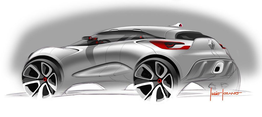 Renault Captur Concept Car Design Sketch Concept Cars Car Sketch