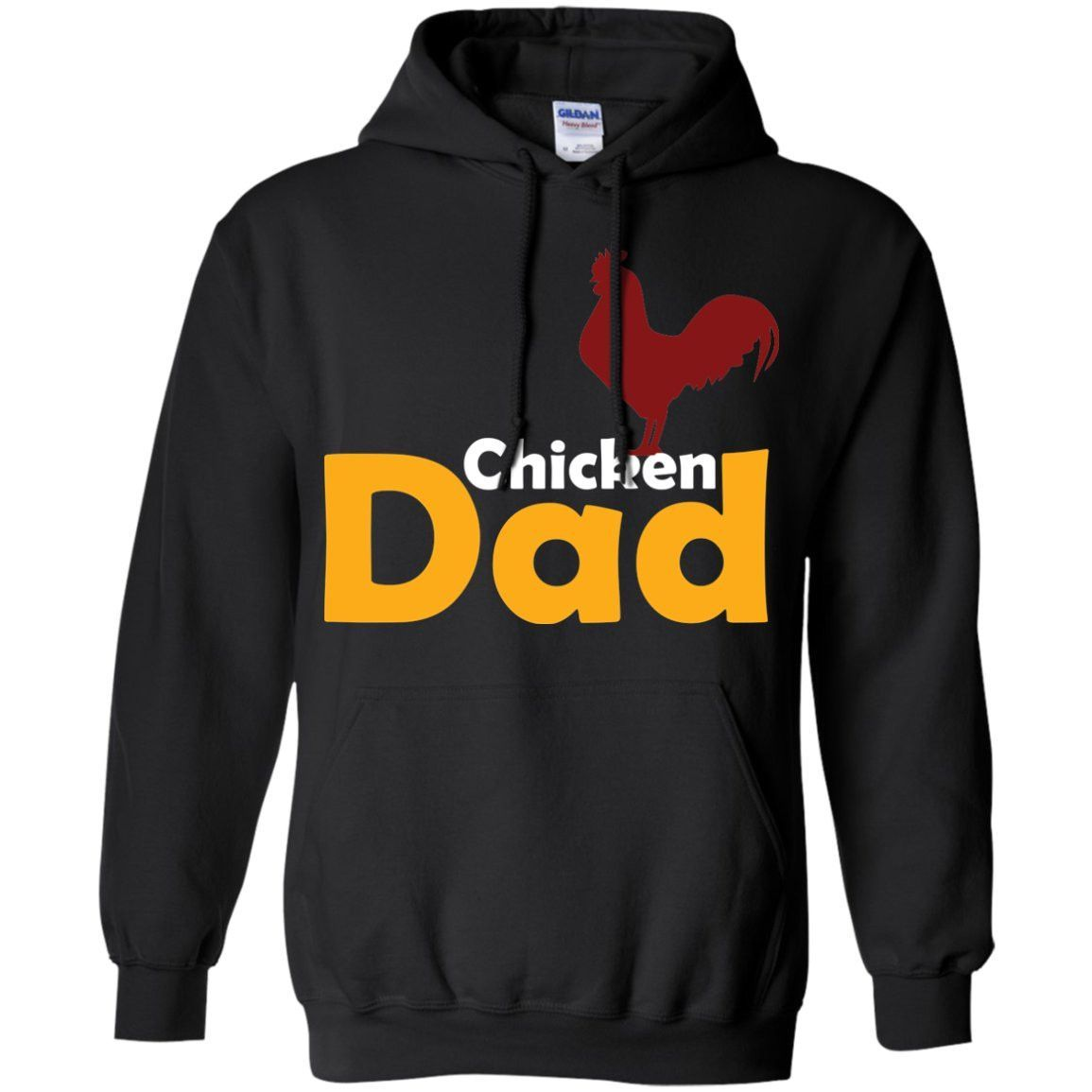 Funny Chicken Themed Gift - Chicken Dad Shirt Pullover Hoodie 8 oz