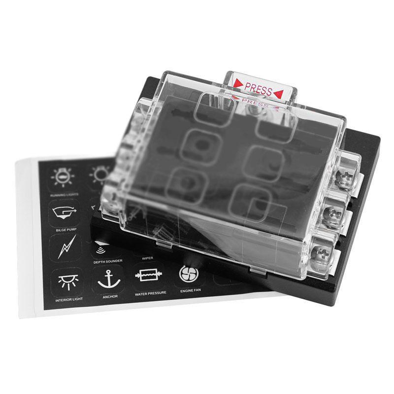 38b70d2dc960ea539faef99a3b24f42b high quality 6 way blade fuse box 90 x 65 x 40mm black fuse boxes black face boxer at webbmarketing.co