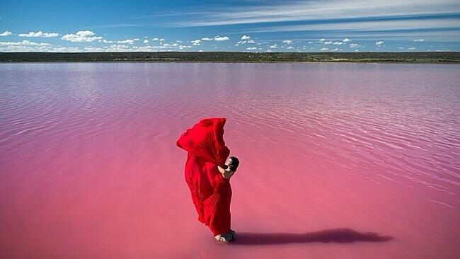 Amazing pink lake in Western Australia