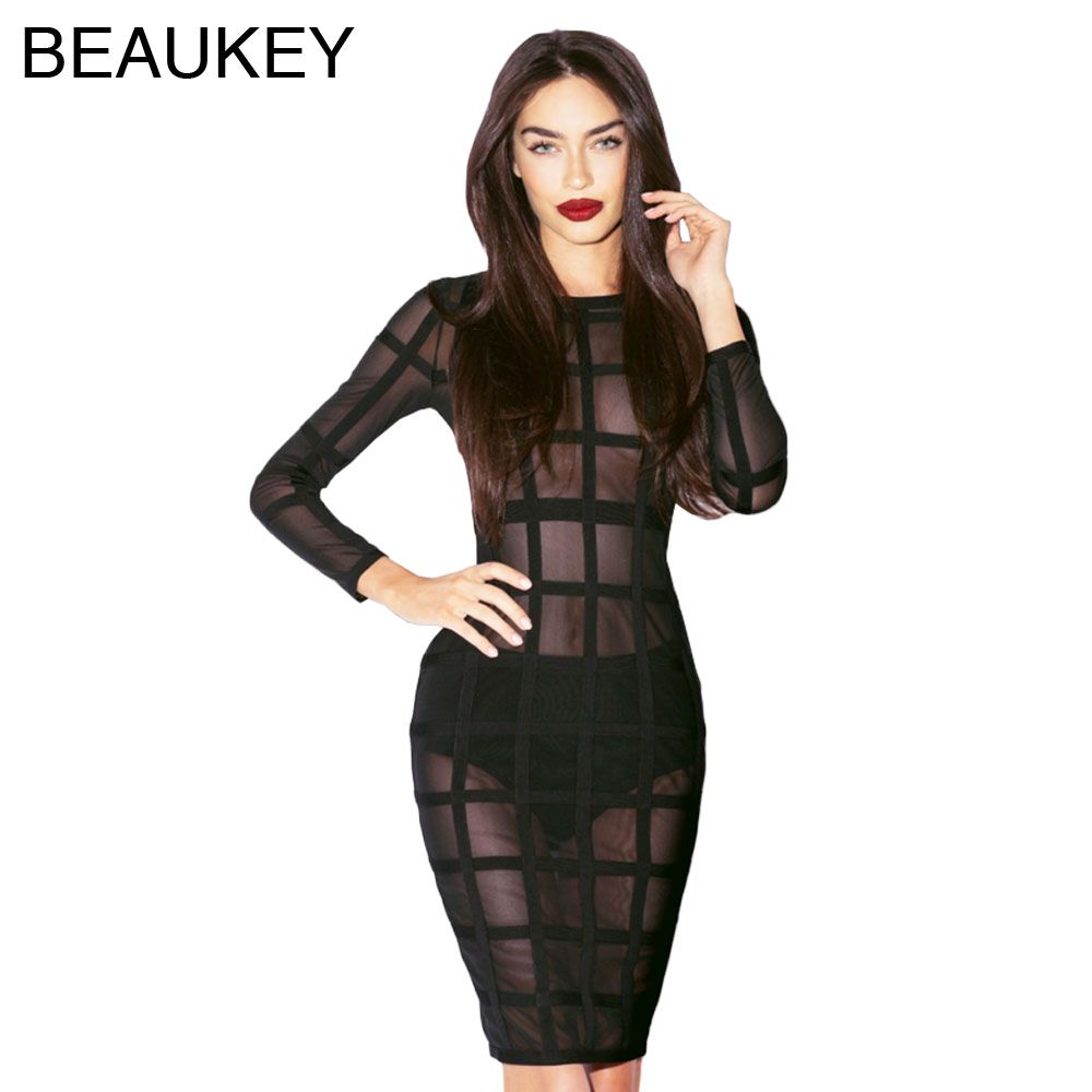 Are you looking forblack grid mesh long sleeve sexy women knee