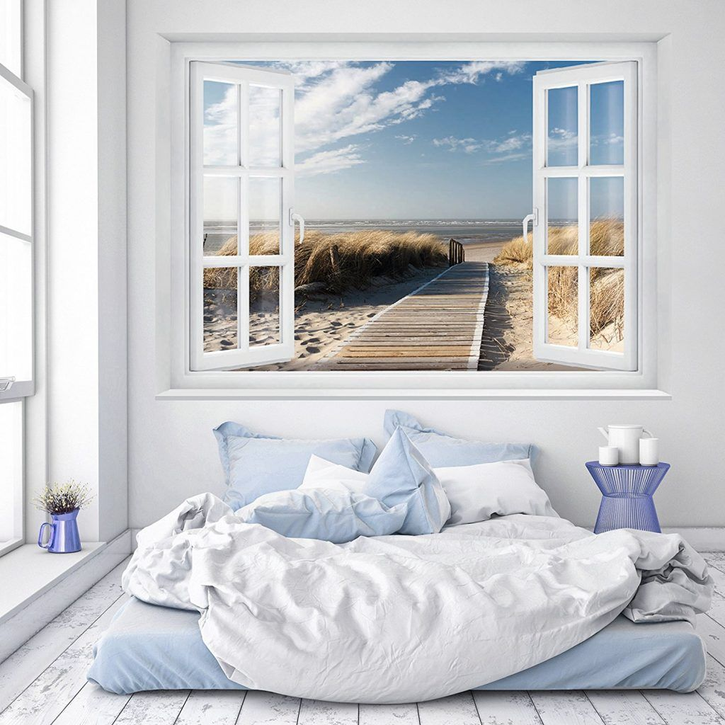 Schlafzimmer Gestalten Meer House Design Faux Window 3d Wallpaper For Pc