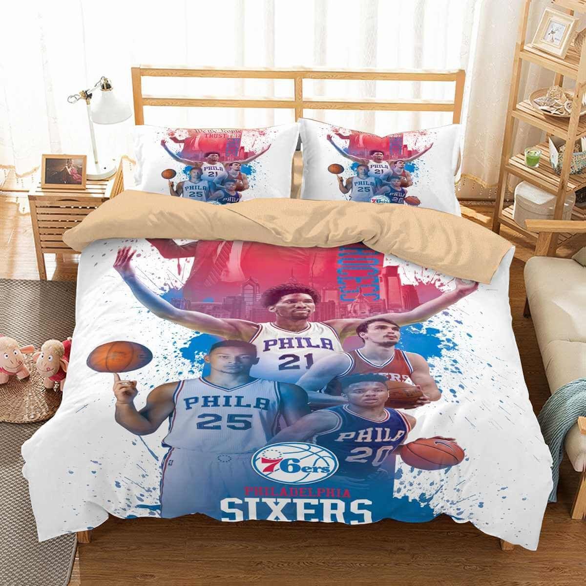 3d Customize Philadelphia 76ers Bedding Set Duvet Cover Set Bedroom Set Bedlinen Duvet Covers Duvet Cover Sets Duvet