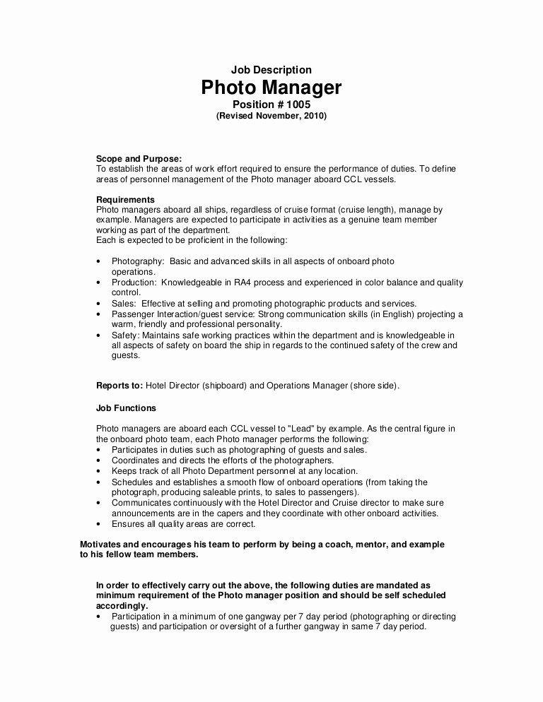 Stock job description resume luxury job description