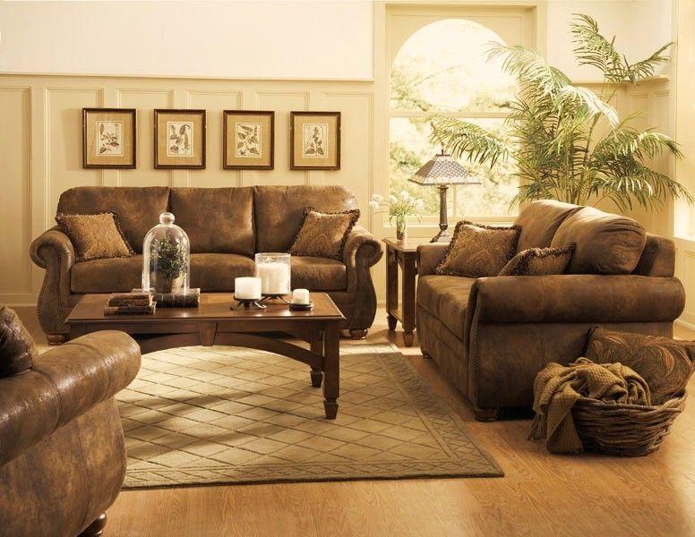 Microfiber Living Room Furniture Red Sofa Modern Homelegance 9936 Wrangler Rustic Brown Love Seat Set