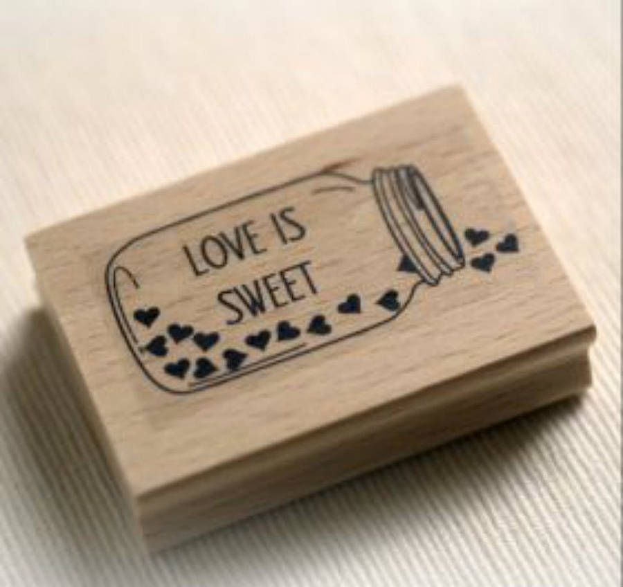 wedding favour 'love is sweet' stamp by beautiful day   notonthehighstreet.com