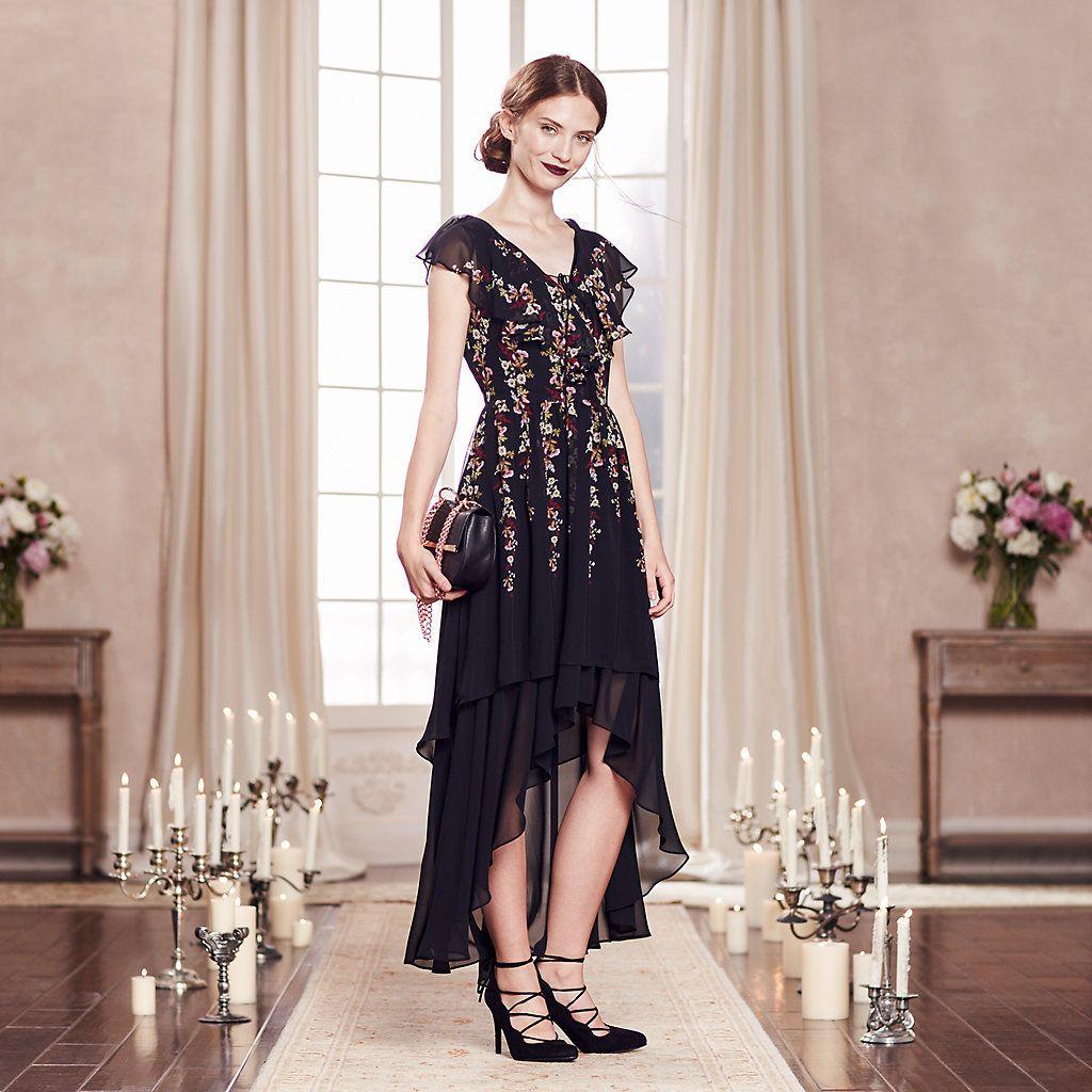 Lc lauren conrad runway collection highlow ruffle maxi dress