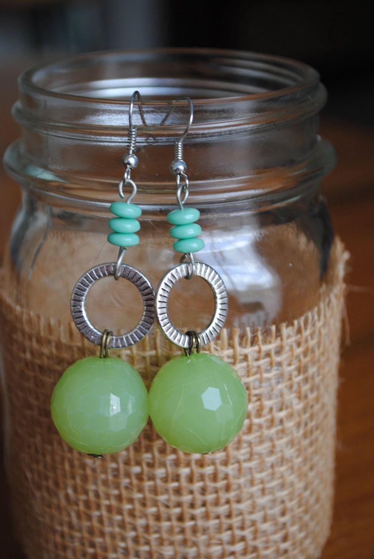 Summer Tea Earrings. $9.00, via Etsy.
