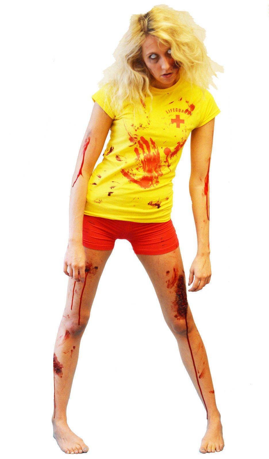 Jacqui e red dress zombie