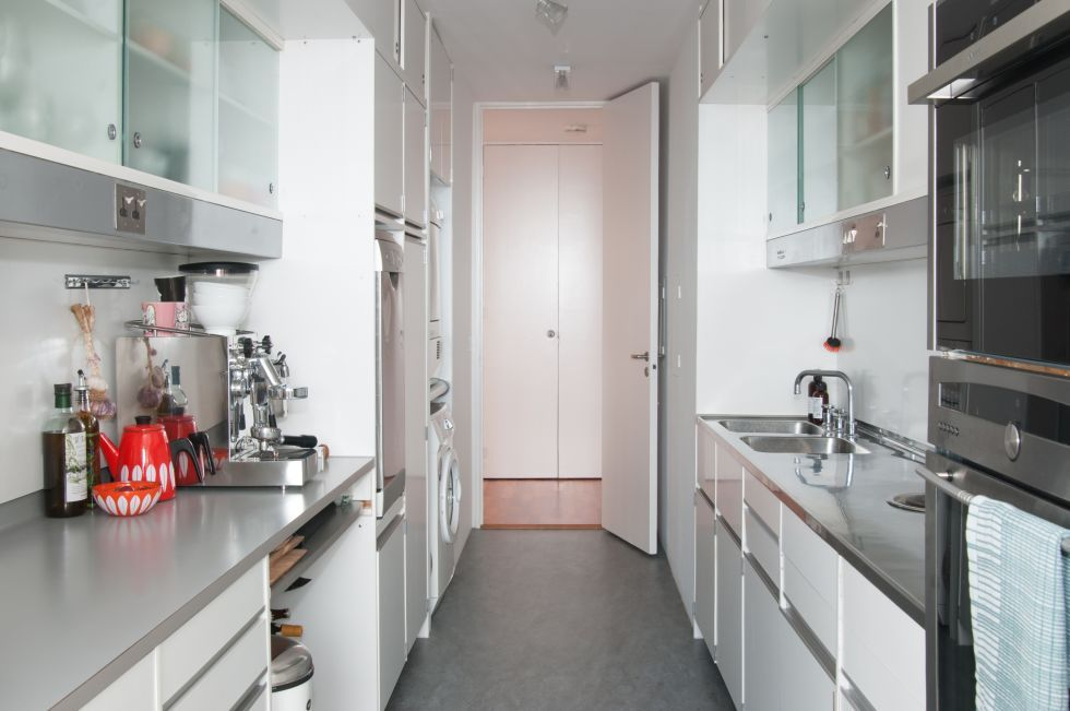 This Is A Kitchen From An Apartment / Flat In The Barbican Centre High Rise