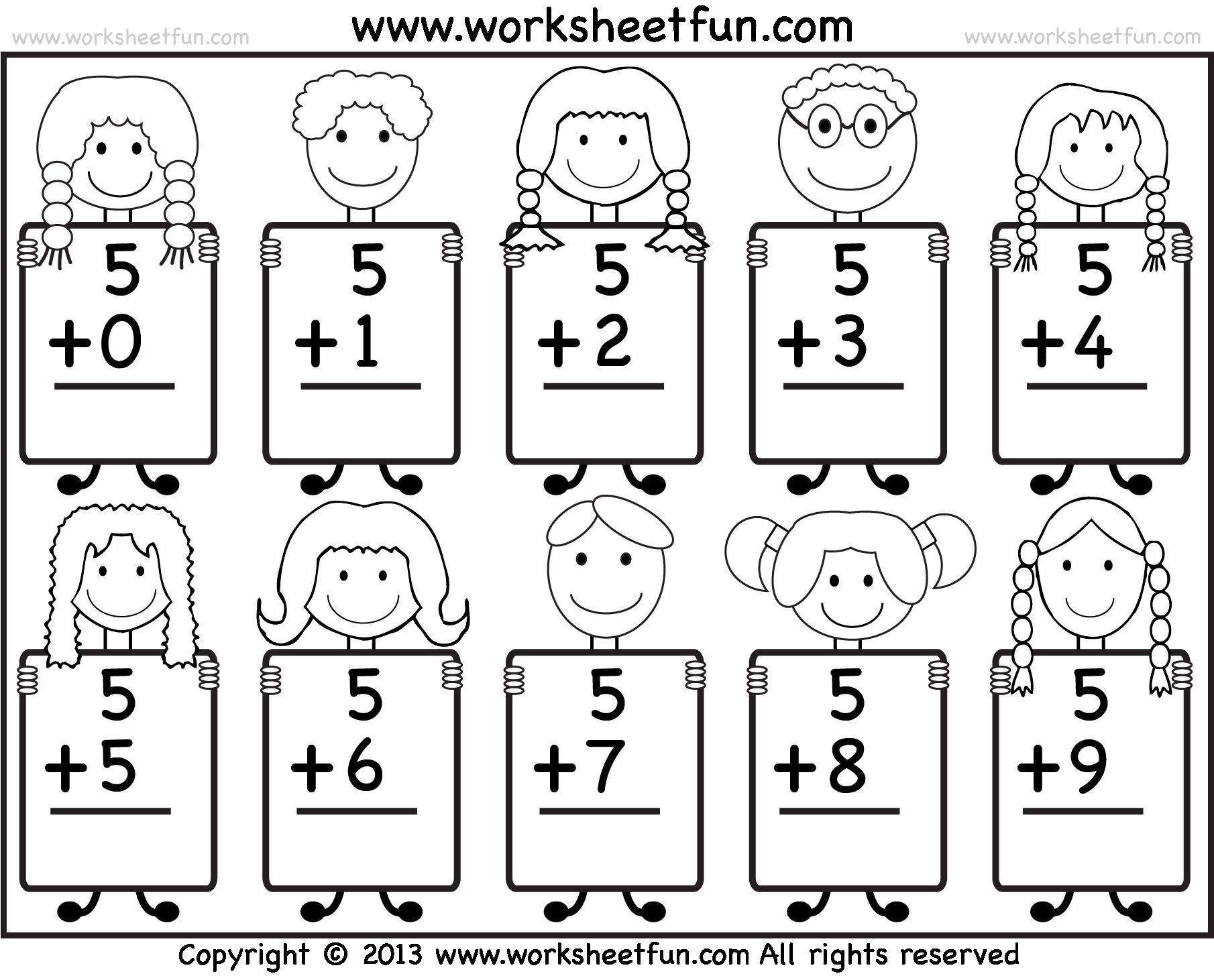 Maths Worksheets For Sr Kg