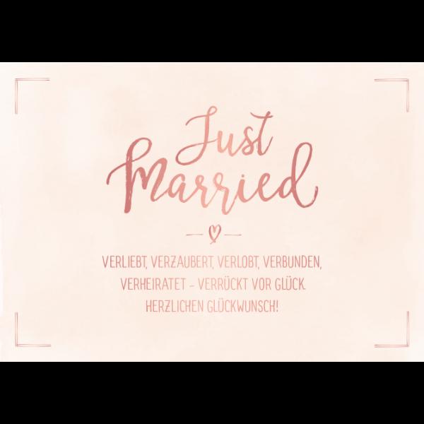 Just married/Bild1 | Glückwünsche hochzeit, Sprüche
