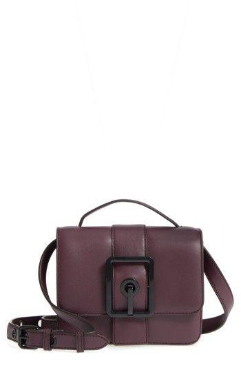 REBECCA MINKOFF REBECCA MINKOFF SMALL HOOK UP LEATHER TOP HANDLE SATCHEL - RED. #rebeccaminkoff #bags #shoulder bags #hand bags #leather #satchel #