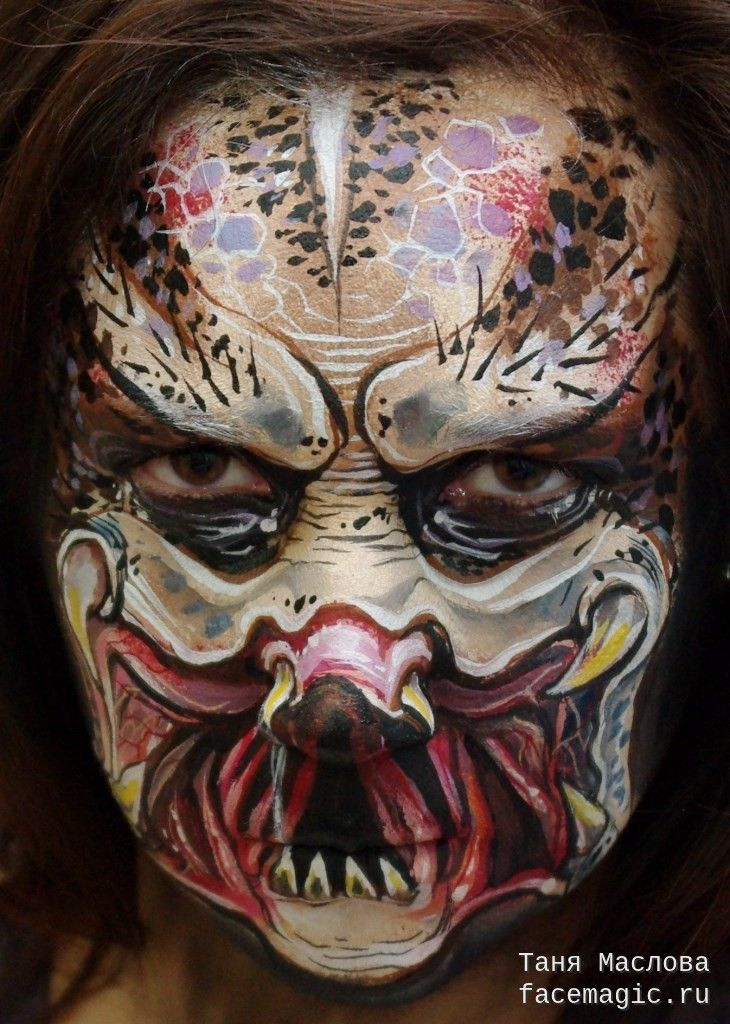 Predator. Face paint by Tanya Maslova. | My Face Paints ...