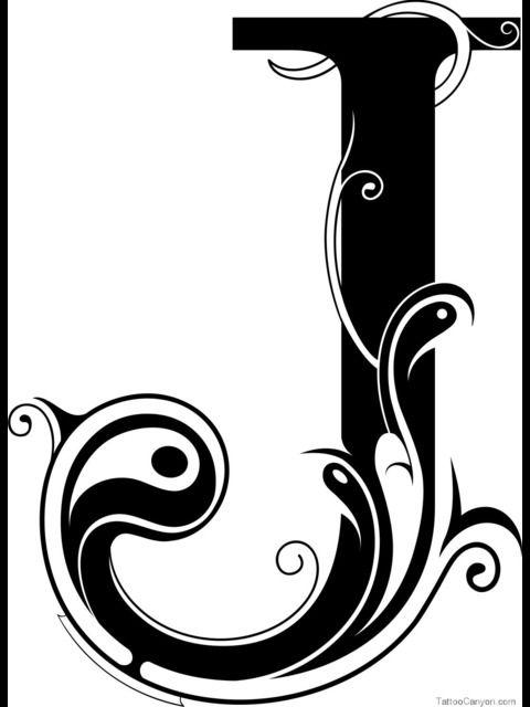 Letter J Designs