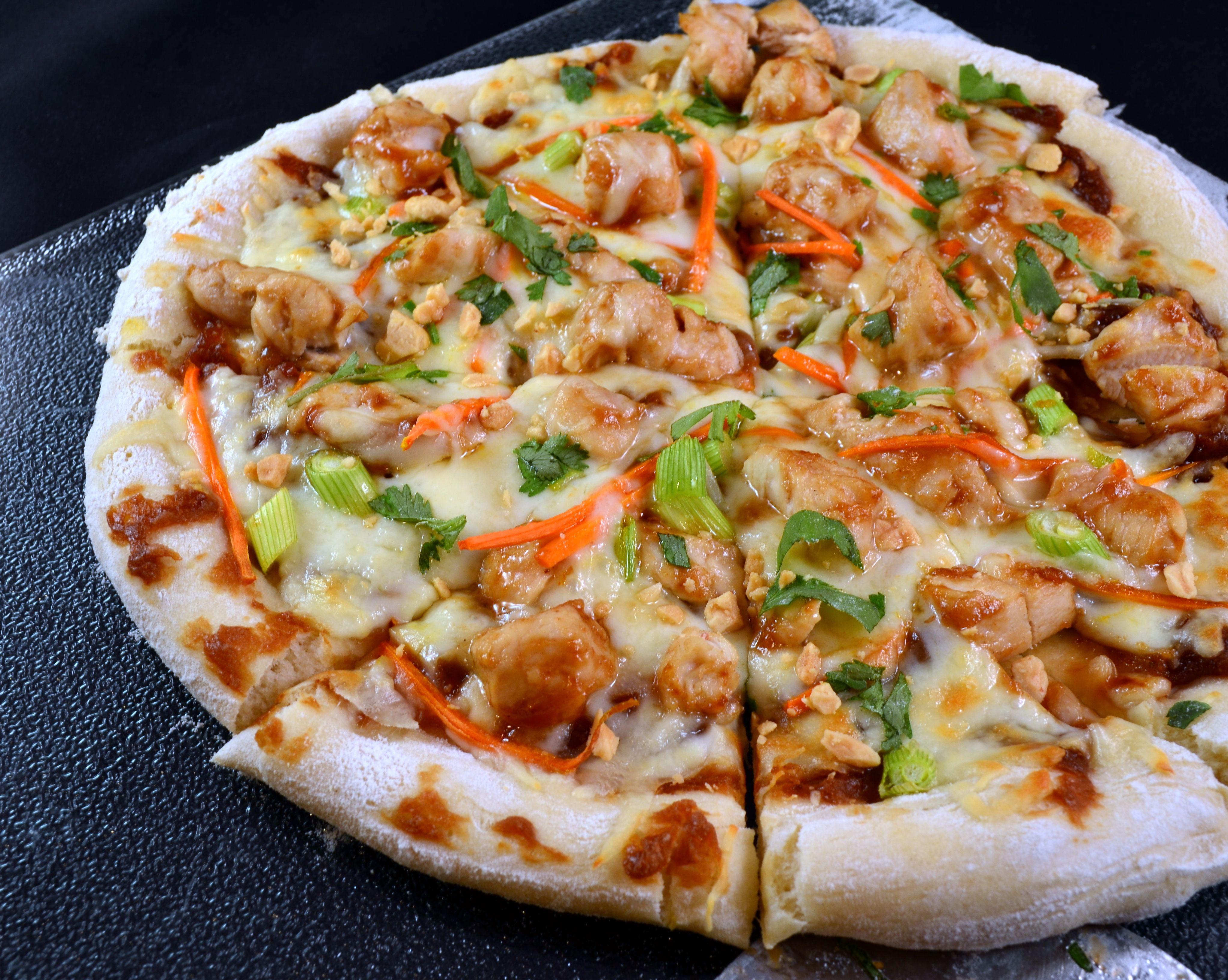 Asian chicken pizza recipe