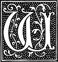 clipart: initial letter W from beginning of the 16th Century 1845