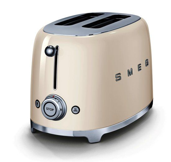 Smeg broodrooster 2x2 TSF 01 Creme