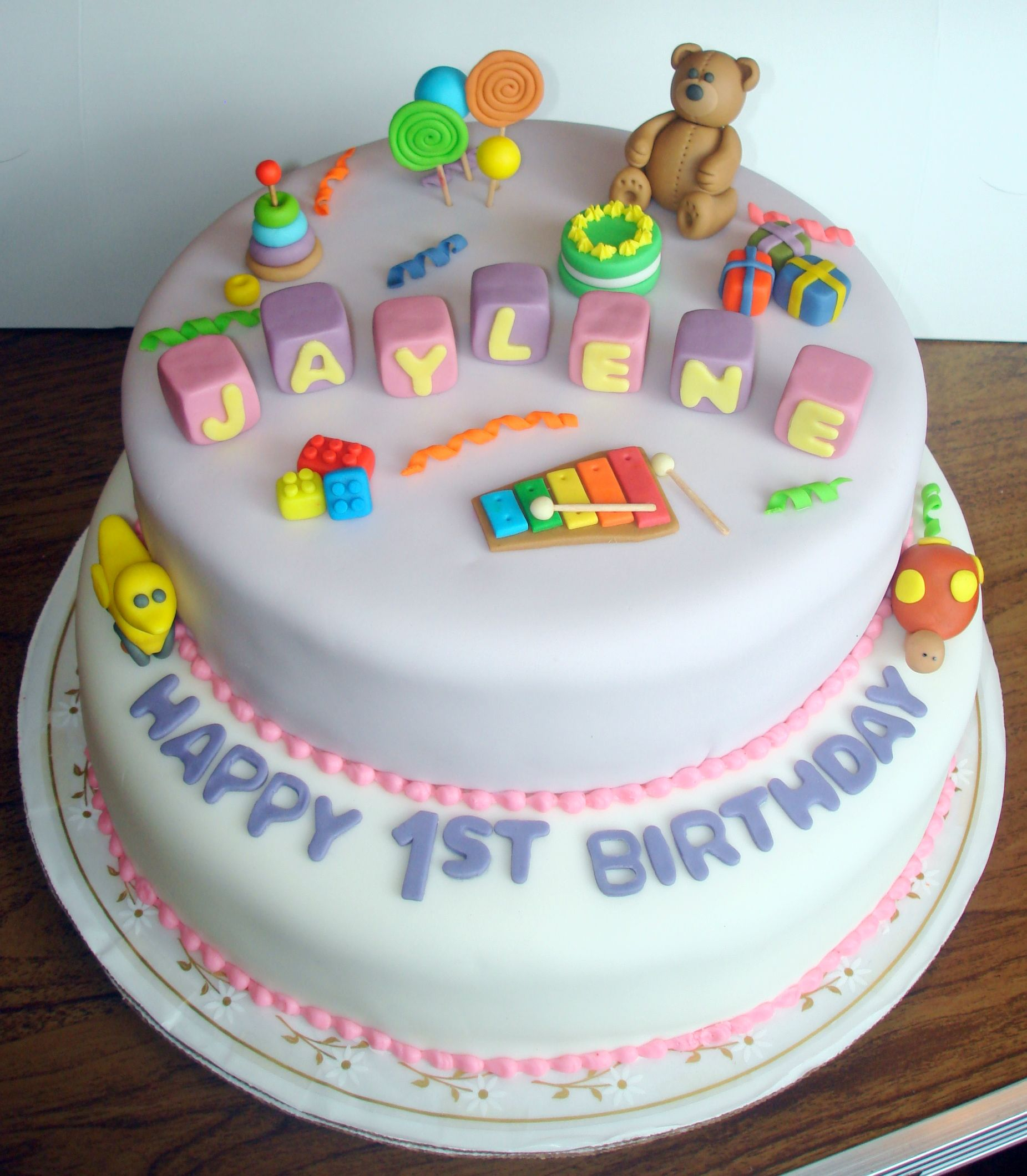 1st birthday cake Cakes Pinterest Birthday cakes Cake and
