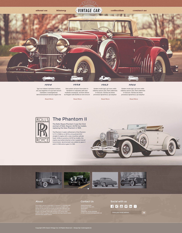 Free Vintage Car template | Free CU/PU Mock Ups/ Digital ...