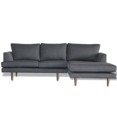 Bobby Berk Home Charlie Reversible Chaise Sectional Finish Oak Color Belfast Grey Size 84 W Sectional Sectional Sofa Couch Sectional Sofa