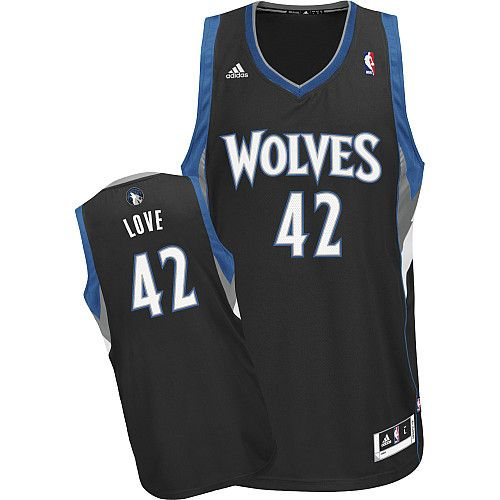 Adidas NBA Minnesota Timberwolves 42 Kevin Love New Revolution 30 Swingman  Alternate Black Jersey 4182b17dc