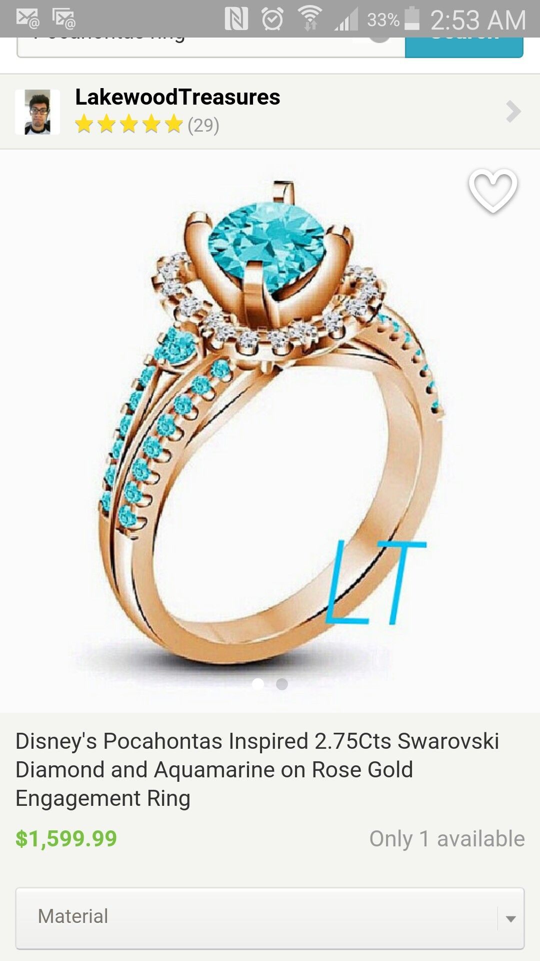 Wow this engagment ring. I love it.