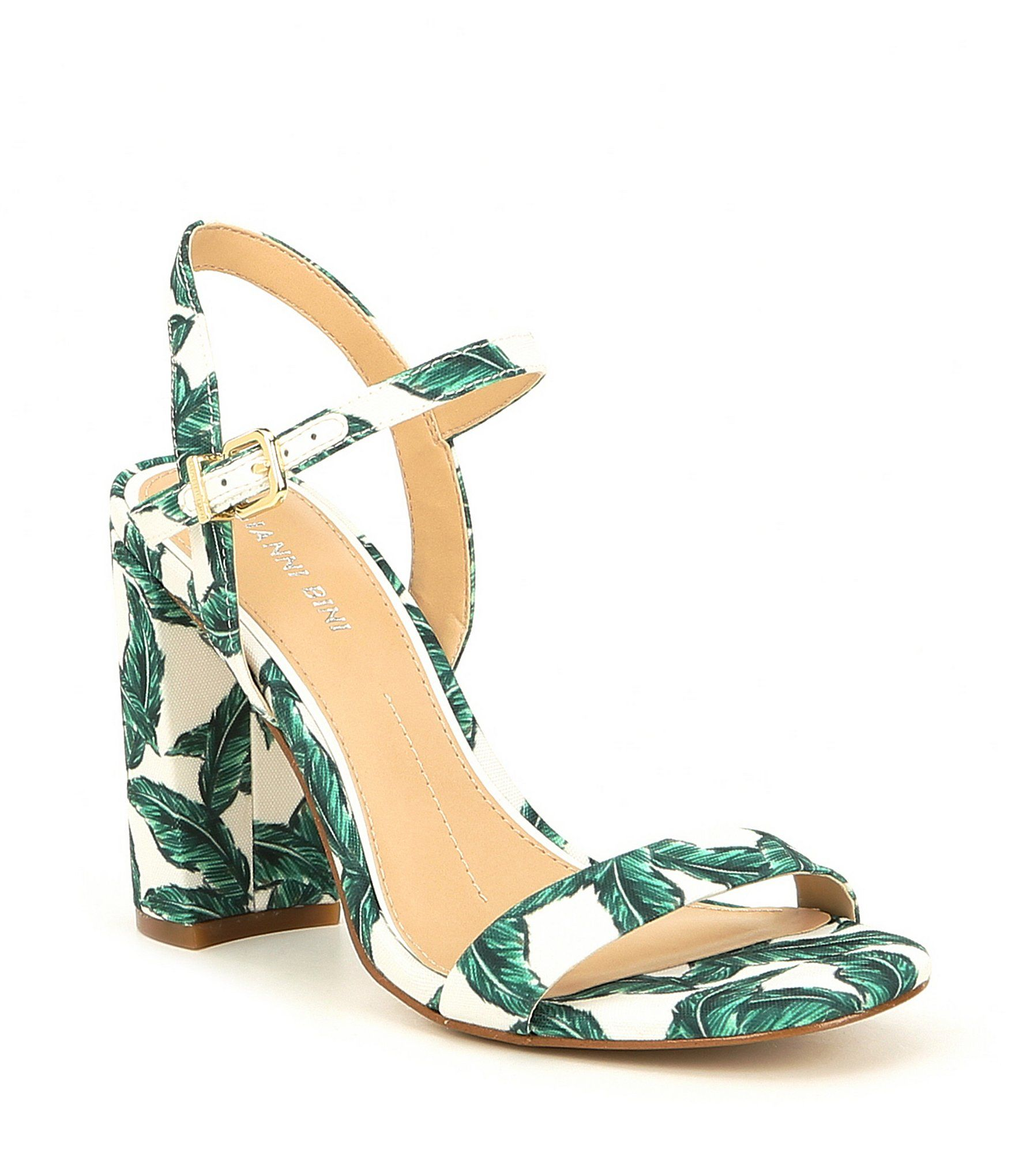 1aef6bc6a1db Shop for Gianni Bini McKaria Palm Leaf Print Block Heel Sandals at  Dillards.com. Visit Dillards.com to find clothing