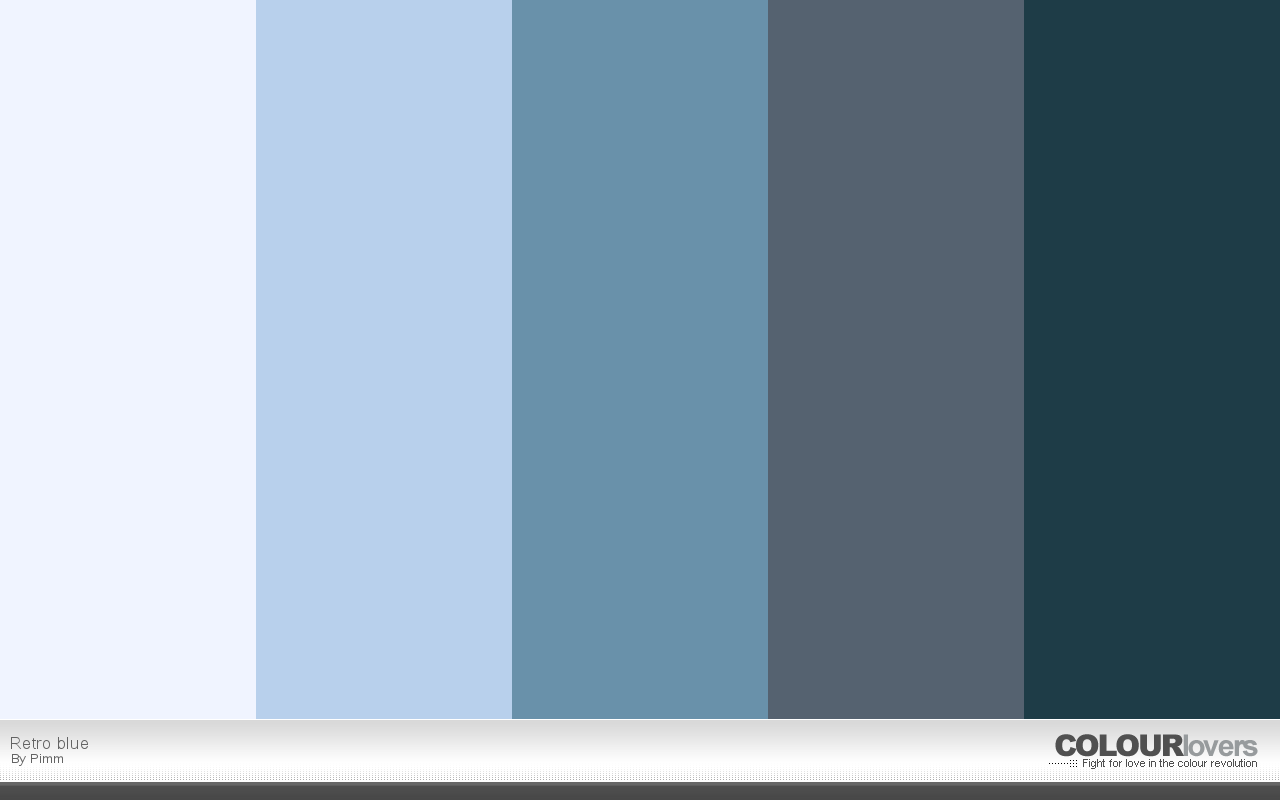 Color Palette Retro Blue
