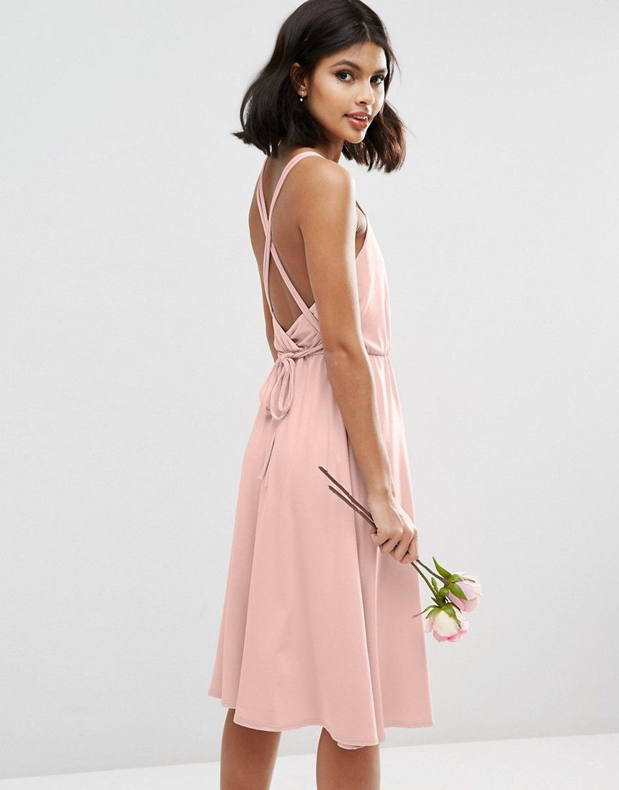 ad7e9da6e833 Image 2 of ASOS WEDDING Crepe Cross Back Midi Dress | Wish List ...