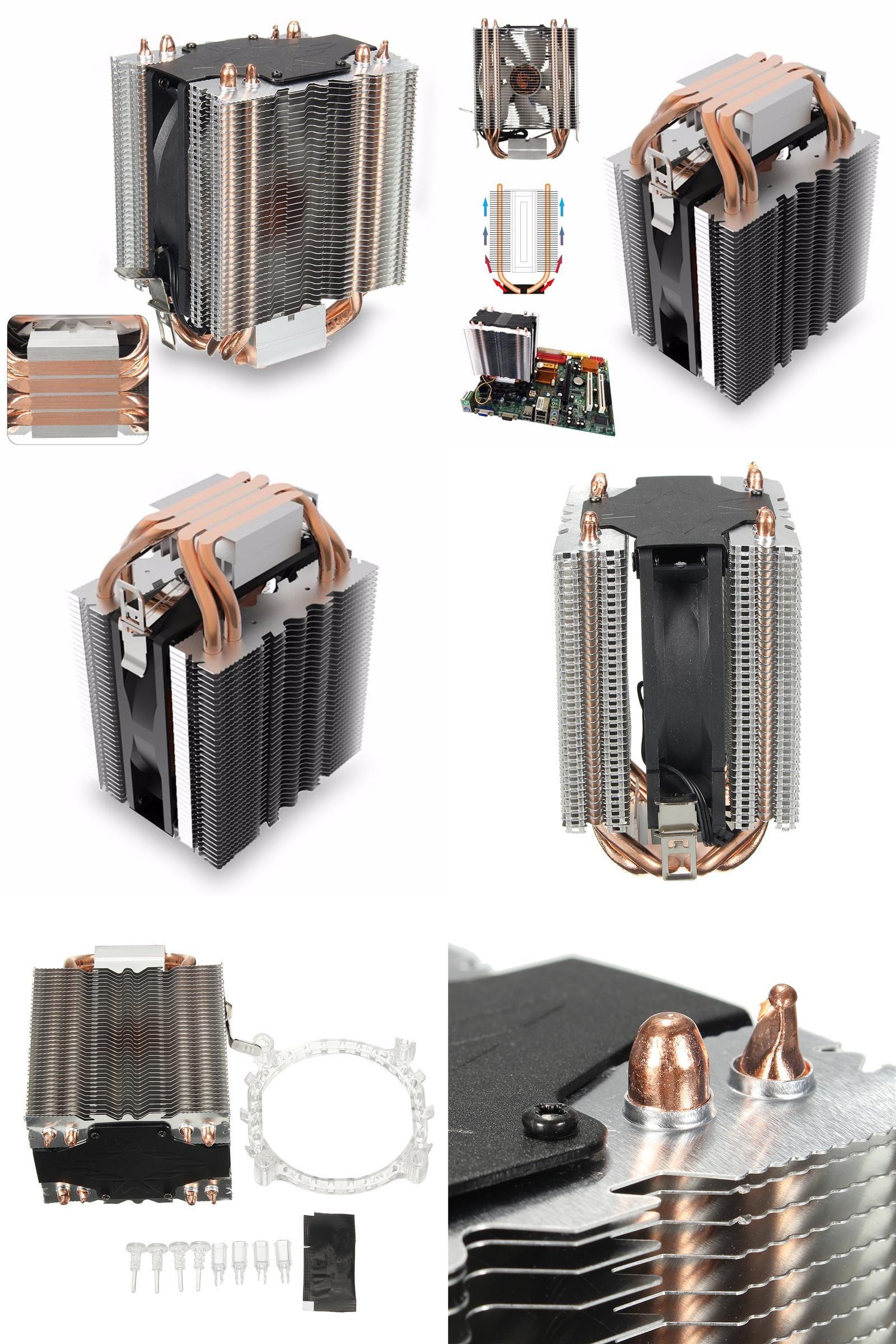 Visit To Buy 4 Heatpipe Radiator Quiet 3pin Cpu Cooler Heatsink For Intel Fan Lga 1155 Original Lga1150