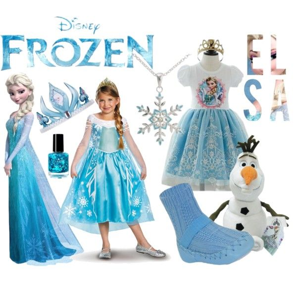 """""""Elsa From Disney's Frozen: Halloween Costume and Accessories"""" by mykonfetti on Polyvore"""