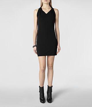 Femme Agatha Dress (Black)   ALLSAINTS.com