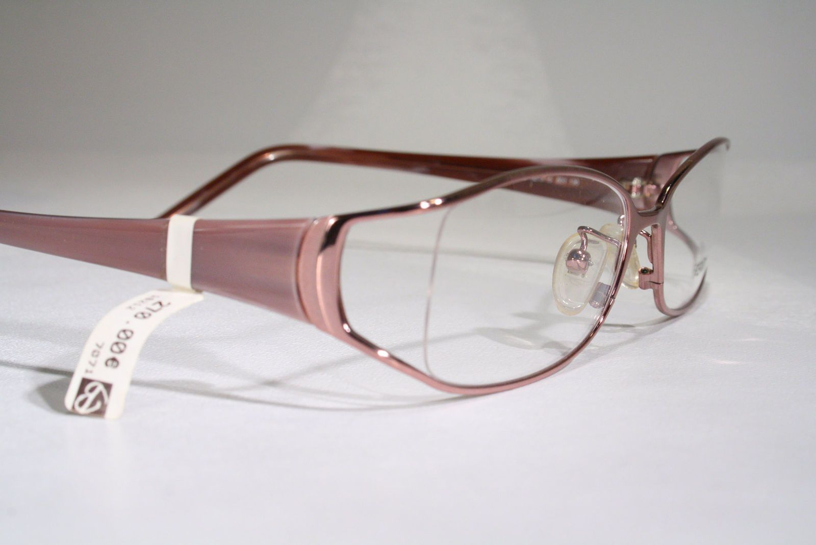 5d709df8ce9 FENDI Women s Rose Gold Pink Semi Rimless Wide Temples Optical Eyeglasses  Frames Glasses + Case   eBay (RipVanW)