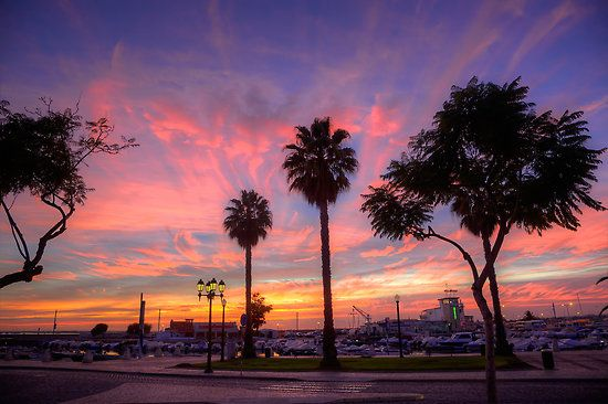 An Amazing sunset at Faro