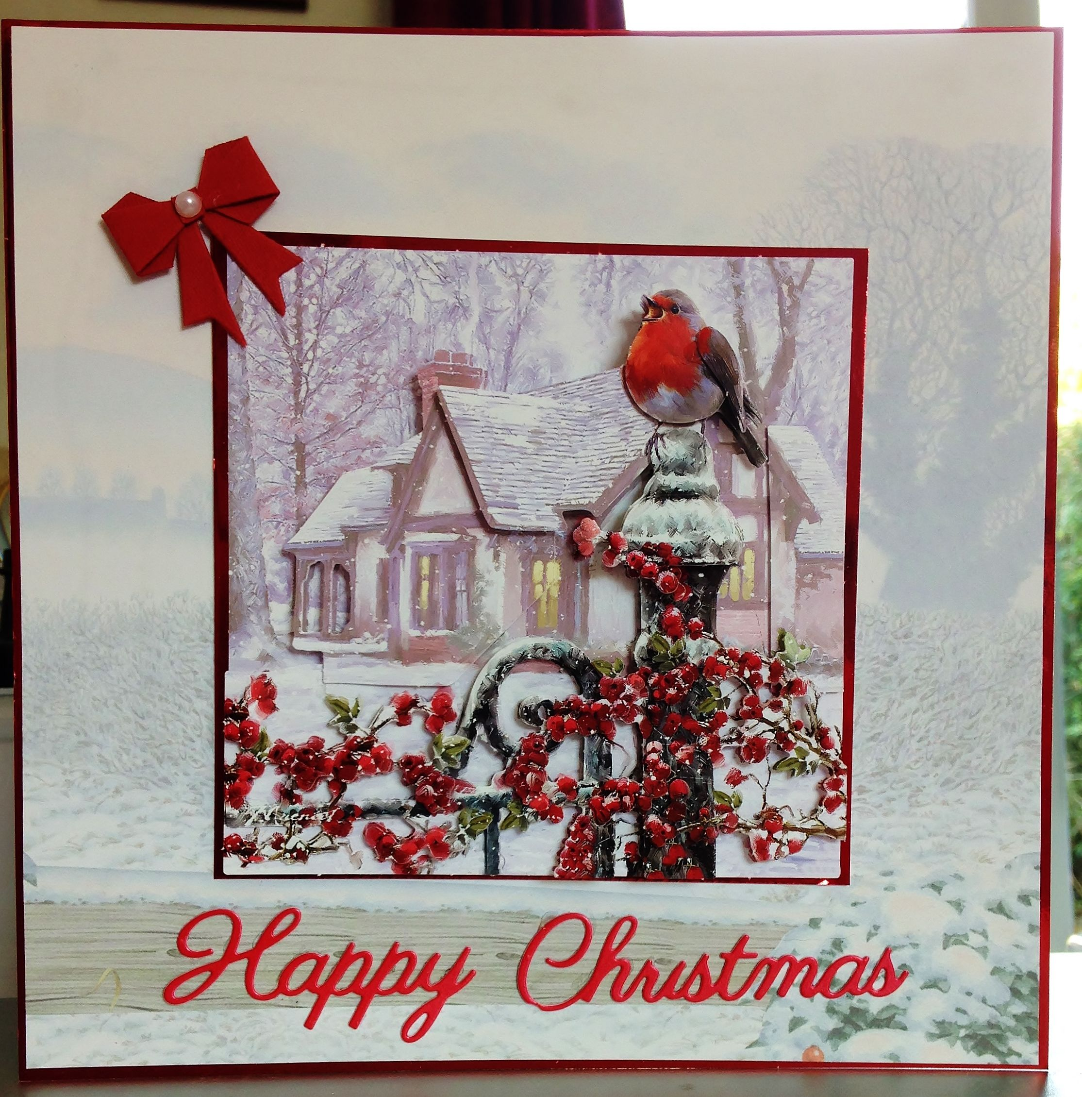 12 Christmas Card 8ins X 8ins Makings From Craft Creations Ltd
