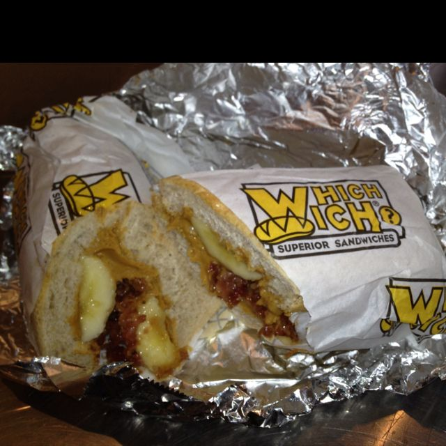 Which Wich Elvis Sandwich Bacon Peanut Butter Honey Banana Delish Food Honey Banana Elvis Sandwich
