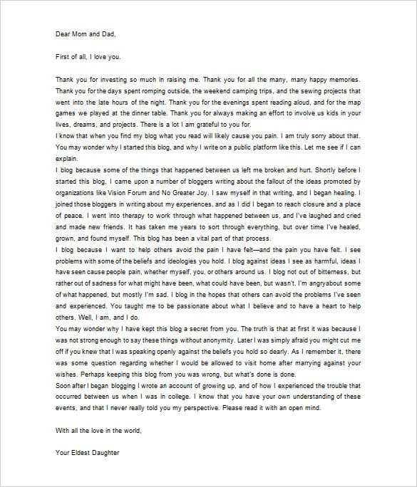 thank you letter parents free sample example format dear mom and - appreciation letter sample