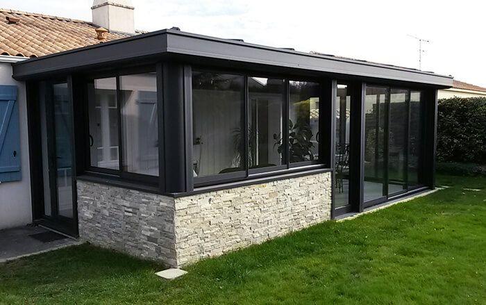 V randa alu design salle manger les clouzeaux 85 architecture pinterest verandas - Veranda salle a manger ...
