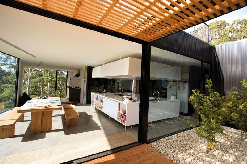 Open House Design With Rooftop Garden