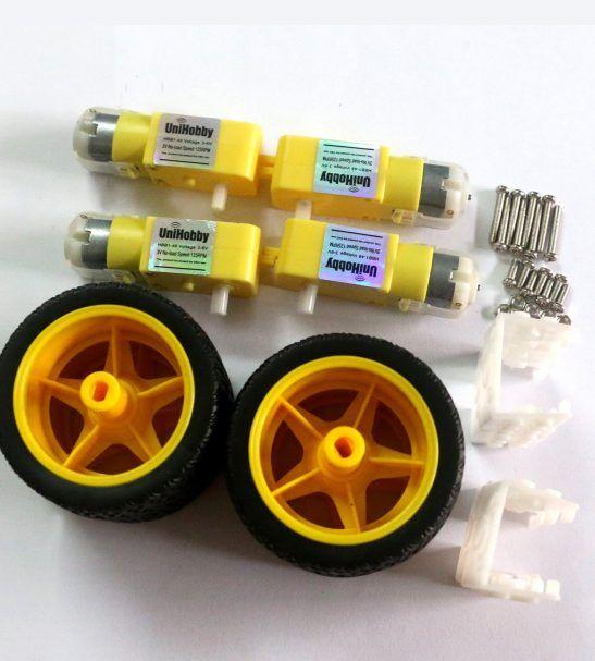 3 12v Uniaxial Dc Gear Motor Tt Motor Kit Compatible With Lego Car Smart Car Robot Wheels