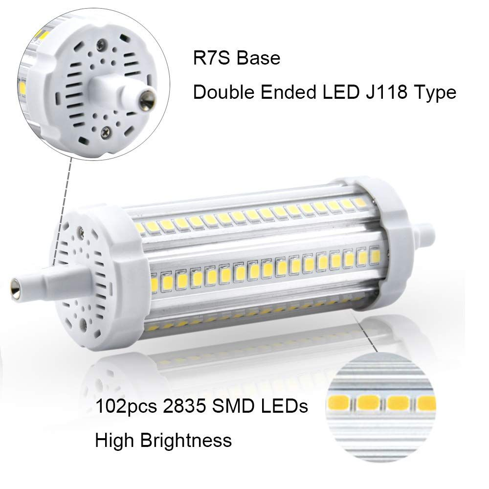 20w Led R7s 118mm Light Bulb Double Ended Led J118 Type T3 Floodlight 200w Halogen Replacement Bulb Warm White 3000k 2pack Find Out M Light Bulb Bulb Light