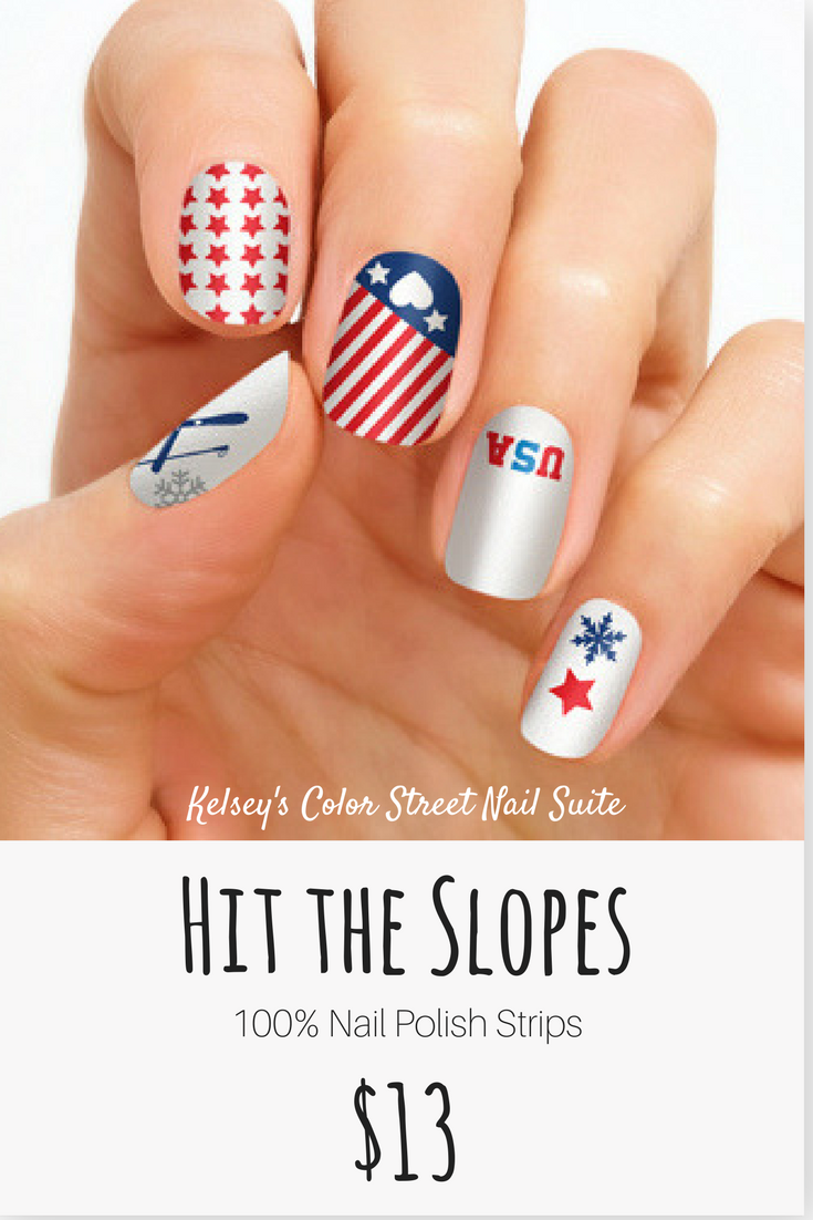 Color Street Hit the Slopes. Limited edition patriotic nail art ...