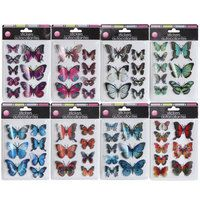 Hand Made Butterfly Stickers with 3-D Wings