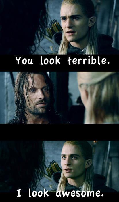 Aragorn and Legolas funny